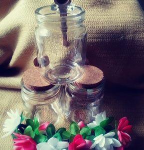 Set of 3 Sm. Glass Jars